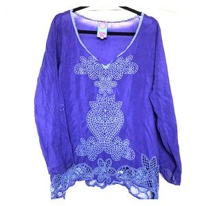 Johnny was embroidered asymmetrical tunic